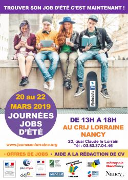 Journées Jobs d'été 2019 à Nancy !