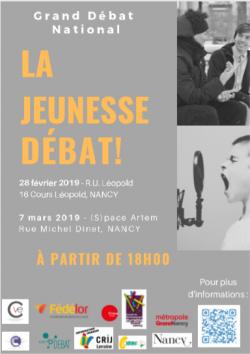 Grand débat national : la jeunesse débat à Nancy !