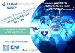Journée Portes ouvertes EEIGM à Nancy, le 2 mars 2019