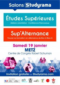 Salons Studyrama Etudes Supérieures et Sup'Alternance à Metz