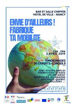 Forum ''Envie d'ailleurs! Fabrique ta mobilité le 3 avril à Nancy